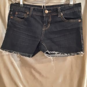 Blue Asphalt Cutoffs 5